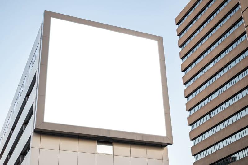 Werbefläche auf Immobilie
